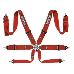 Sparco 6-Point Red Safety Harness (04827BM)