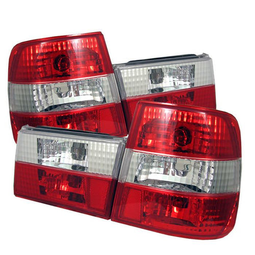 Spyder Auto  BMW E34 5-Series 88-95 Euro Style Tail Lights - Red Clear - Modern Automotive Performance