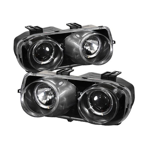 Spyder Auto Acura Integra 94-97 Projector Headlights - LED Halo -Black - High H1 (Included) - Low 9006 (Included) - Modern Automotive Performance
