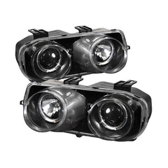 Spyder Auto Acura Integra 94-97 Projector Headlights - LED Halo -Black - High H1 (Included) - Low 9006 (Included)