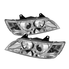 Spyder Auto BMW Z3 96-02 Projector Headlights - LED Halo - Chrome - High H1 (Included) - Low H1 (Included)