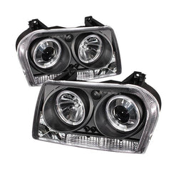 Spyder Auto Chrysler 300 05-08 Projector Headlights - LED Halo - LED ( Replaceable LEDs ) - Black - High H1 (Included) - Low 9006 (Not Included)
