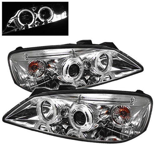 Spyder Auto Pontiac G6 2/4DR 05-08 Projector Headlights - LED Halo - LED ( Replaceable LEDs ) - Chrome - High H1 (Included) - Low H1 (Included) - Modern Automotive Performance
