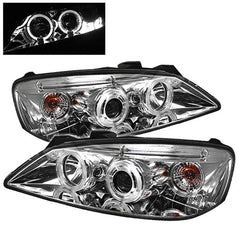Spyder Auto Pontiac G6 2/4DR 05-08 Projector Headlights - LED Halo - LED ( Replaceable LEDs ) - Chrome - High H1 (Included) - Low H1 (Included)