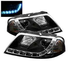 Spyder Auto Volkswagen Passat 01-05 Projector Headlights - DRL - Black - High H1 (Included) - Low H1 (Included)