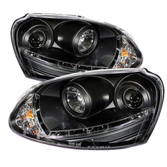 Spyder Auto Volkswagen GTI 06-09 / Jetta 06-09 / Rabbit 06-09 Projector Headlights - Halogen Model Only ( Not Compatible With Xenon/HID Model ) - DRL - Black - High H1 (Included) - Low H1 (Not Included)