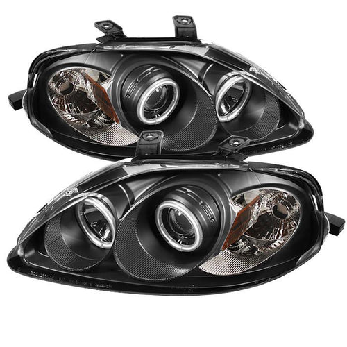 Spyder Auto Honda Civic 99-00 Projector Headlights - CCFL Halo - Black - High H1 (Included) - Low H1 (Included) - Modern Automotive Performance