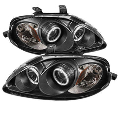 Spyder Auto Honda Civic 99-00 Projector Headlights - CCFL Halo - Black - High H1 (Included) - Low H1 (Included)