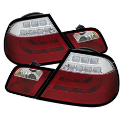 Spyder Auto  BMW E46 00-03 2Dr Coupe ( Will Not Fit Convertible ) Light Bar LED Tail Lights - Red Clear