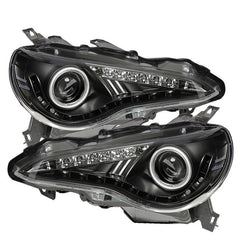 Spyder Auto  Scion FRS 12-15 Projector Headlights - DRL LED - Black