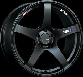 "SSR GTV01 5x100 18"" Flat Black Wheels"