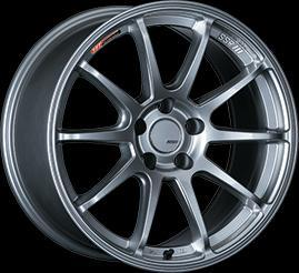 "SSR GTV02 5x100 15x6.0"" +45mm Offset Glare Silver Wheels"