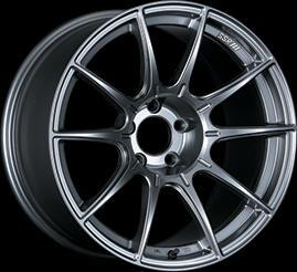 "SSR GTX01 4x100 17x7.0"" +42mm Offset Dark Silver Wheels"