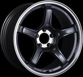 "SSR GTX03 5x100 17x7.0"" +48mm Offset Black Graphite Wheels"