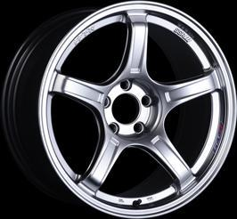 "SSR GTX03 5x100 17x7.0"" +48mm Offset Platinum Silver Wheels"