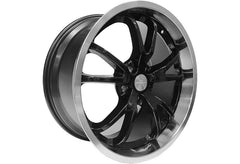 Steeda Spyder Wheel - Black w/ Machined Lip - 20x9.5 | 2005-2014 Ford Mustang (013-0021-45B)