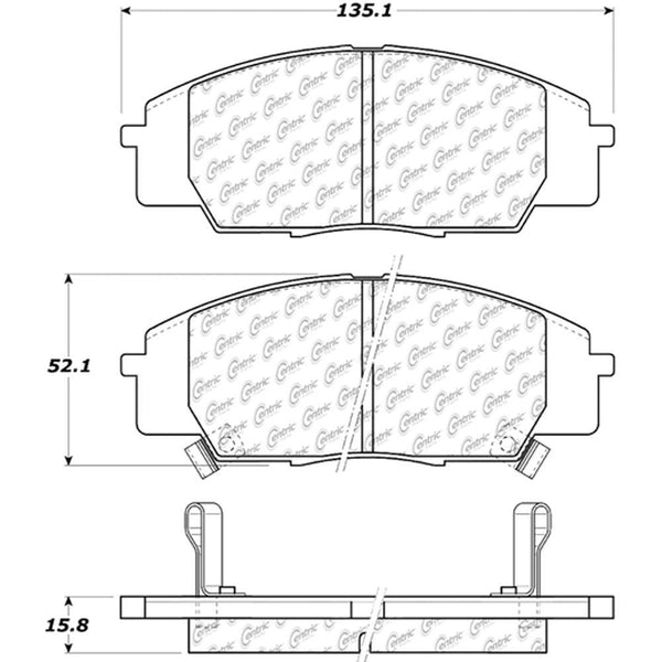 Centric PosiQuiet Front Brake Pads | Multiple Honda/Acura Fitments (105.08290)