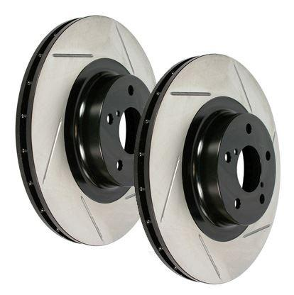 EVO 8 / 9 Front Slotted Rotors by Stoptech (126.46064S) - Modern Automotive Performance