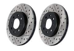 StopTech Slotted & Drilled Brake Rotor - RL | 2010-2014 Volkswagen Golf GTI (127.33099L)