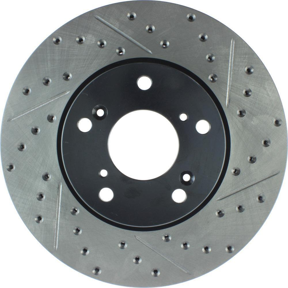 FRONT LEFT /& RIGHT Stoptech SportStop Cross Drilled Brake Rotors STCDF40013