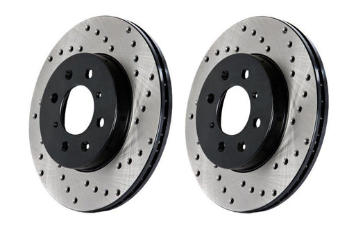StopTech Drilled Brake Rotor - RL | 2010-2014 Volkswagen Golf GTI (128.33099L) - Modern Automotive Performance