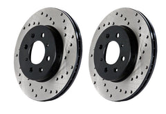 StopTech Drilled Brake Rotor - RL | 2010-2014 Volkswagen Golf GTI (128.33099L)