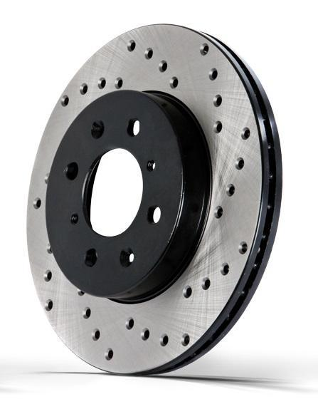 StopTech Drilled Cryo Rotor - Front Right | Multiple Fitments (128.42100CR)