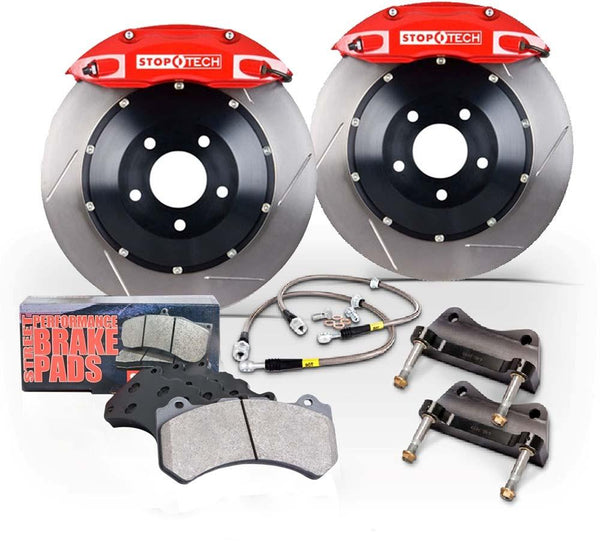 Stoptech BBK Front ST-40 Red Caliper 328 x 28 Slotted Rotor (13 Subaru BRZ / Scion FR-S) - Modern Automotive Performance