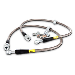 StopTech Stainless Steel Rear Brake lines | 2003-2007 Mitsubishi Evo 8 & 9 (950.46504)