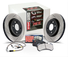 Stoptech Slotted Sport Brake Kit - Front | 2007-2013 Mazda 3 Mazdaspeed (977.45001F)