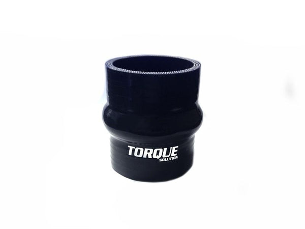 "Torque Solution 2.5"" Hump Silicone Coupler - Black 