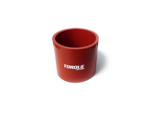 "Torque Solution 2.5"" Straight Silicone Coupler - Red 