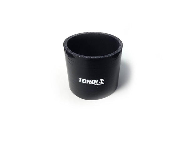 Torque Solution 2.75'' Straight Silicone Coupler - Black | (TS-CPLR-S275BK) - Modern Automotive Performance