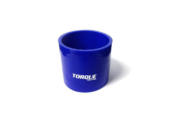 "Torque Solution 3"" Straight Silicone Coupler - Blue 