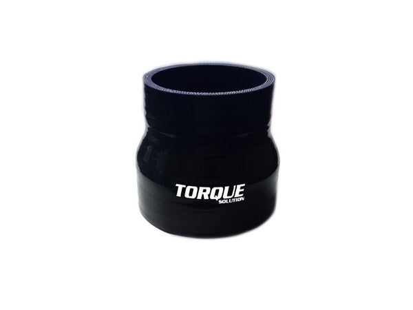 Torque Solution Transition Silicone Coupler - Black | (TS-CPLR-T23BK) - Modern Automotive Performance