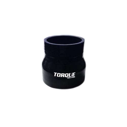 "Torque Solution 2.5"" to 3"" Transition Silicone Coupler - Black (TS-CPLR-T253BK)"