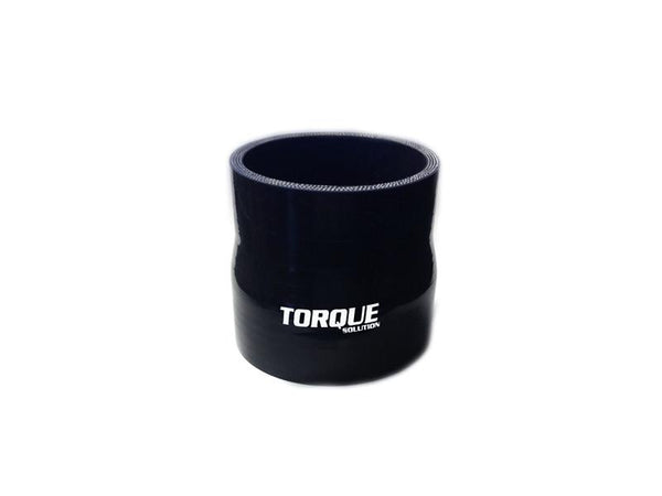 "Torque Solution 2.75"" to 3"" Transition Silicone Coupler - Black 