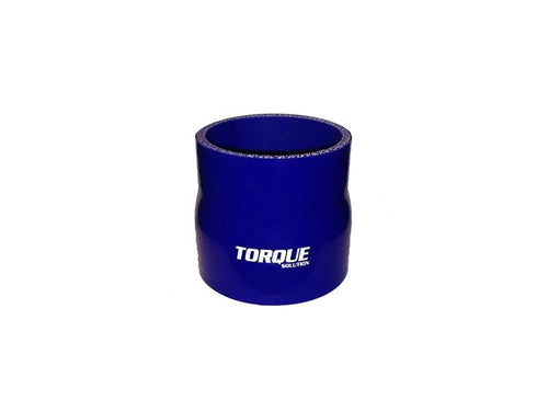 Torque Solution 2.75'' to 3'' Transition Silicone Coupler - Blue | (TS-CPLR-T2753BL) - Modern Automotive Performance