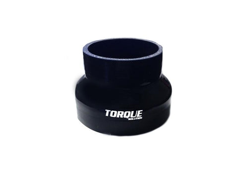 "Torque Solution 3"" to 4"" Transition Silicone Coupler - Black 