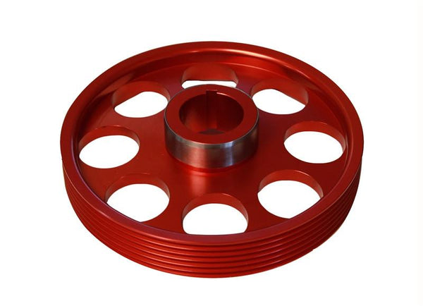 Lightweight Crank Pulley (Red): Hyundai Genesis Coupe 3.8 2010+ by Torque Solution - Modern Automotive Performance