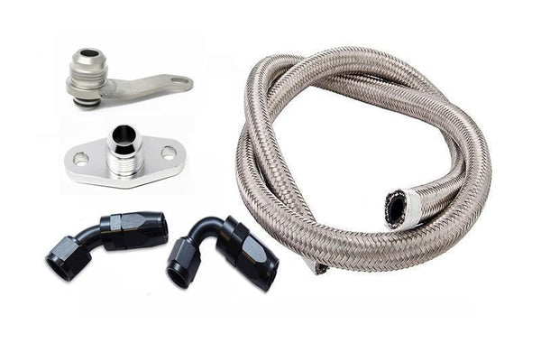 Torque Solution -10AN Turbo Oil Return Line Kit for GT/GTX and Borg Warner EFR | Subaru EJ (TS-SU-486K-G)