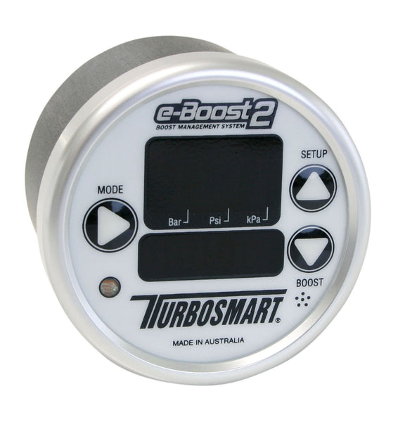 TurboSmart e-Boost2 Electronic Boost Controller - 60mm White/Silver | (TS-0301-1001) - Modern Automotive Performance