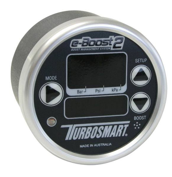 TurboSmart e-Boost2 Electronic Boost Controller - 66mm Black/Silver | (TS-0301-1013) - Modern Automotive Performance