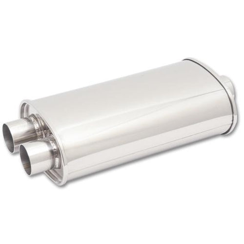 "Vibrant Street Power Oval Muffler - 3"" In / 2.5"" Dual Out (1111)"
