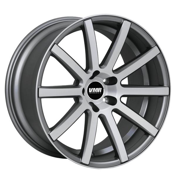 "VMR V702 5x112 18"" Matte Gunmetal w/ Brushed Face Wheels"