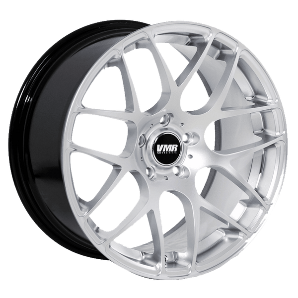 "VMR V710 5x112 20x9.0"" +35mm Offset Hyper Silver Wheels"
