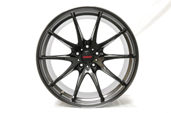 "Volk G25 5x114.3 19"" Formula Silver / Black Clear Wheels"