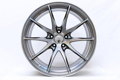 "Volk G25 5x114.3 19"" Mercury Silver II Wheels"