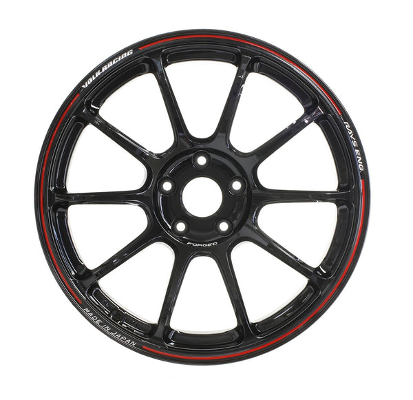 "Volk ZE40 Time Attack 4x100 17"" Black / REDOT Wheels"