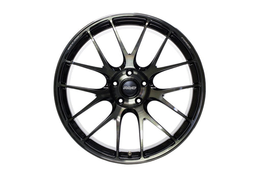 "Volk G27 Progressive 5x112 19"" Pressed Black Clear Wheels"